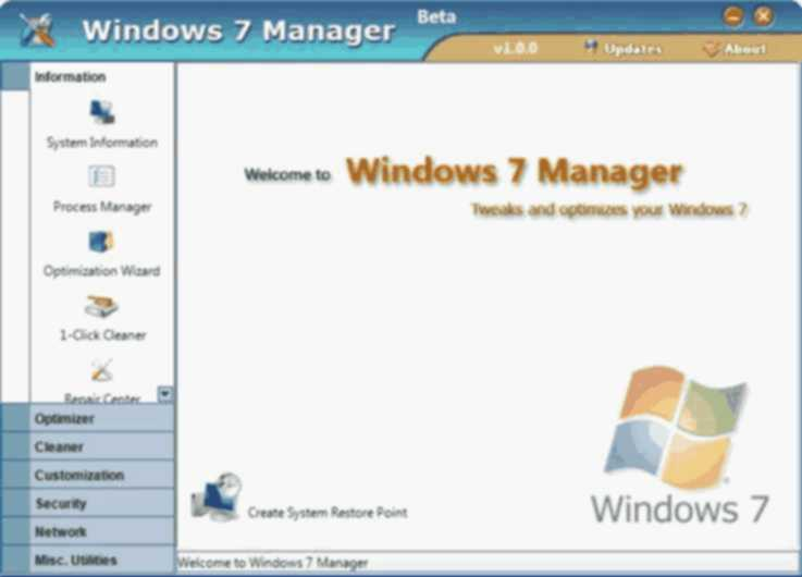 Windows 7 Manager 5.1.9