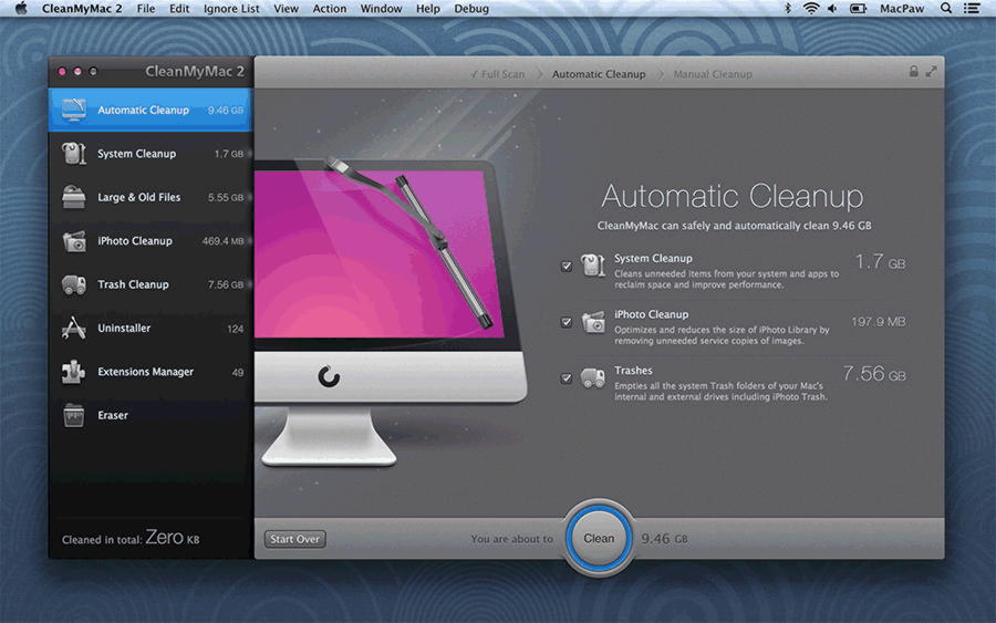 CleanMyMac 4.2.1 для Mac