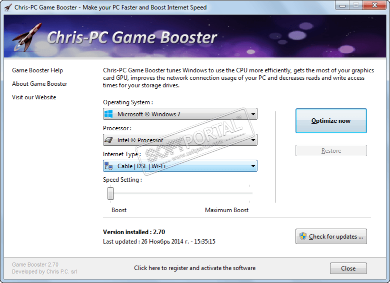 Chris-PC Game Booster 5.06.30